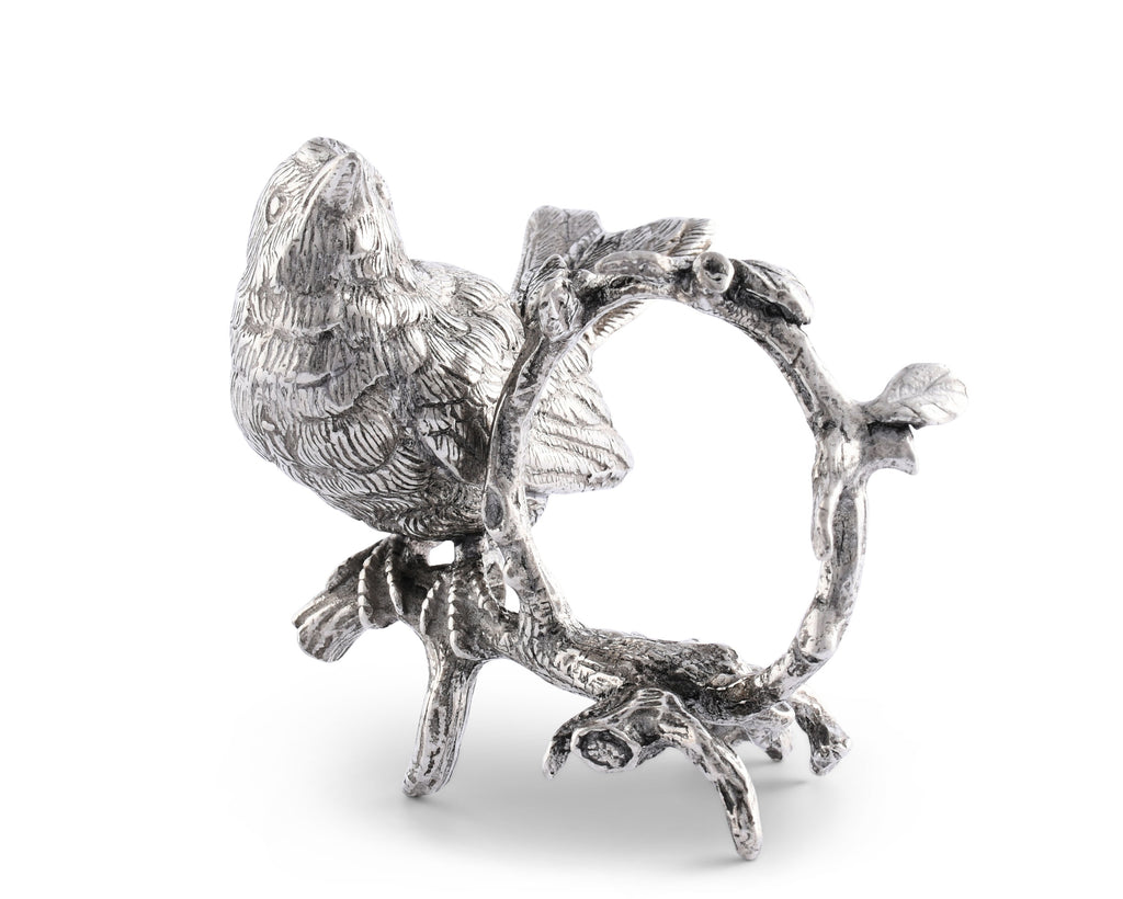 Vagabond House Song Bird Pewter Song Bird Napkin Ring K115-1