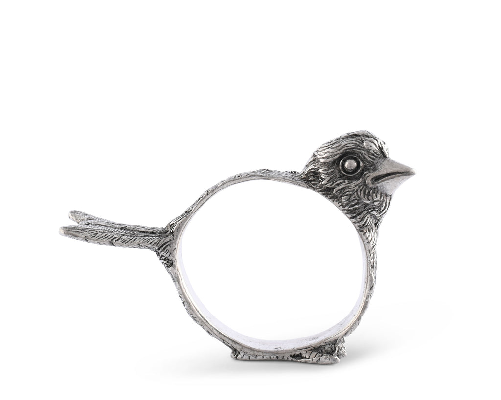 Vagabond House Song Bird Pewter Song Bird Profile Napkin Ring K116P-1