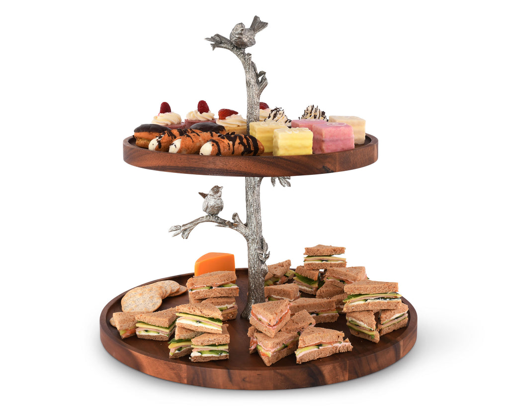 Vagabond House Song Bird Song Bird Cheese Stand Two Tier K213K