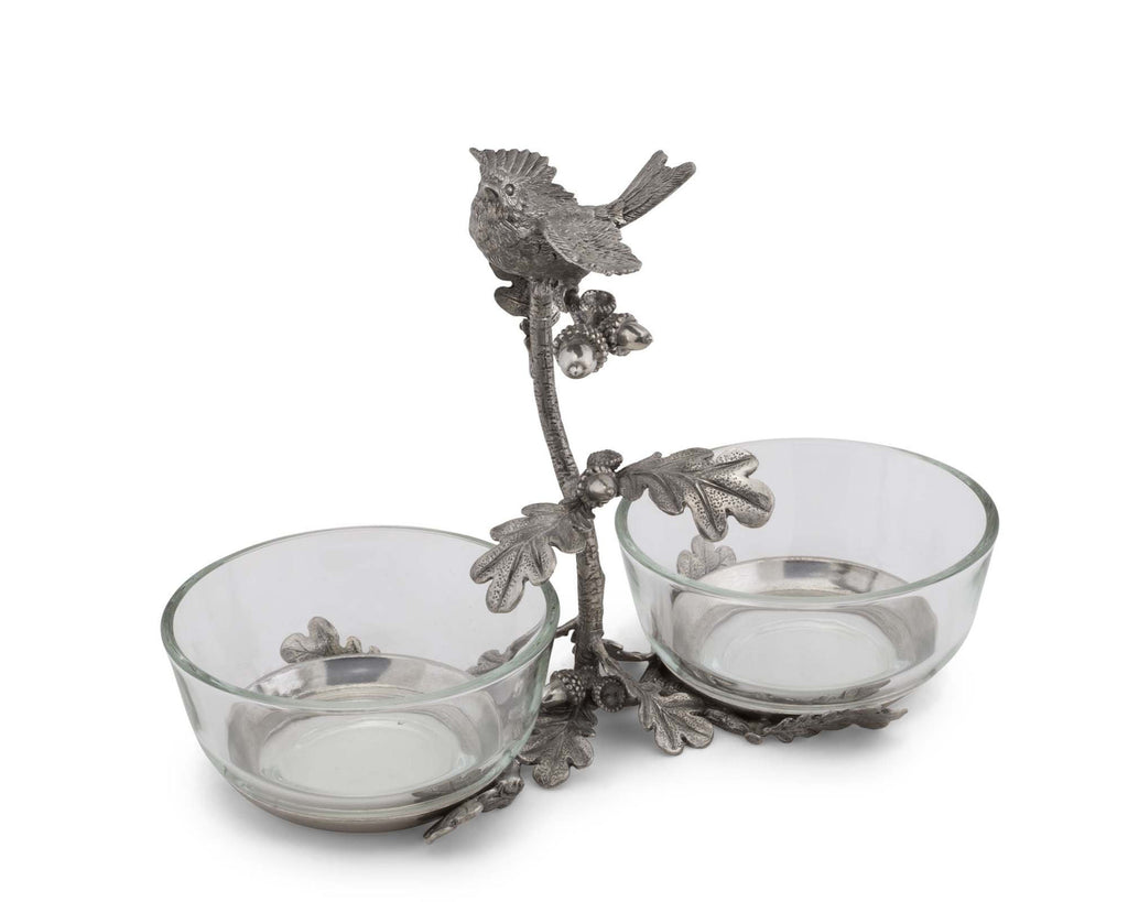 Vagabond House Song Bird Song Bird Double Condiment Bowl K415S