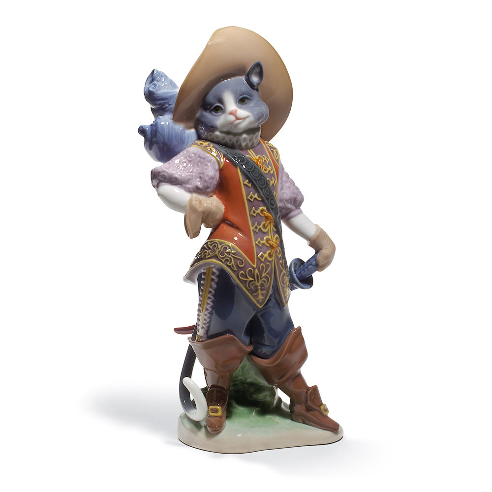 Lladro Puss in Boots Figurine 01008599