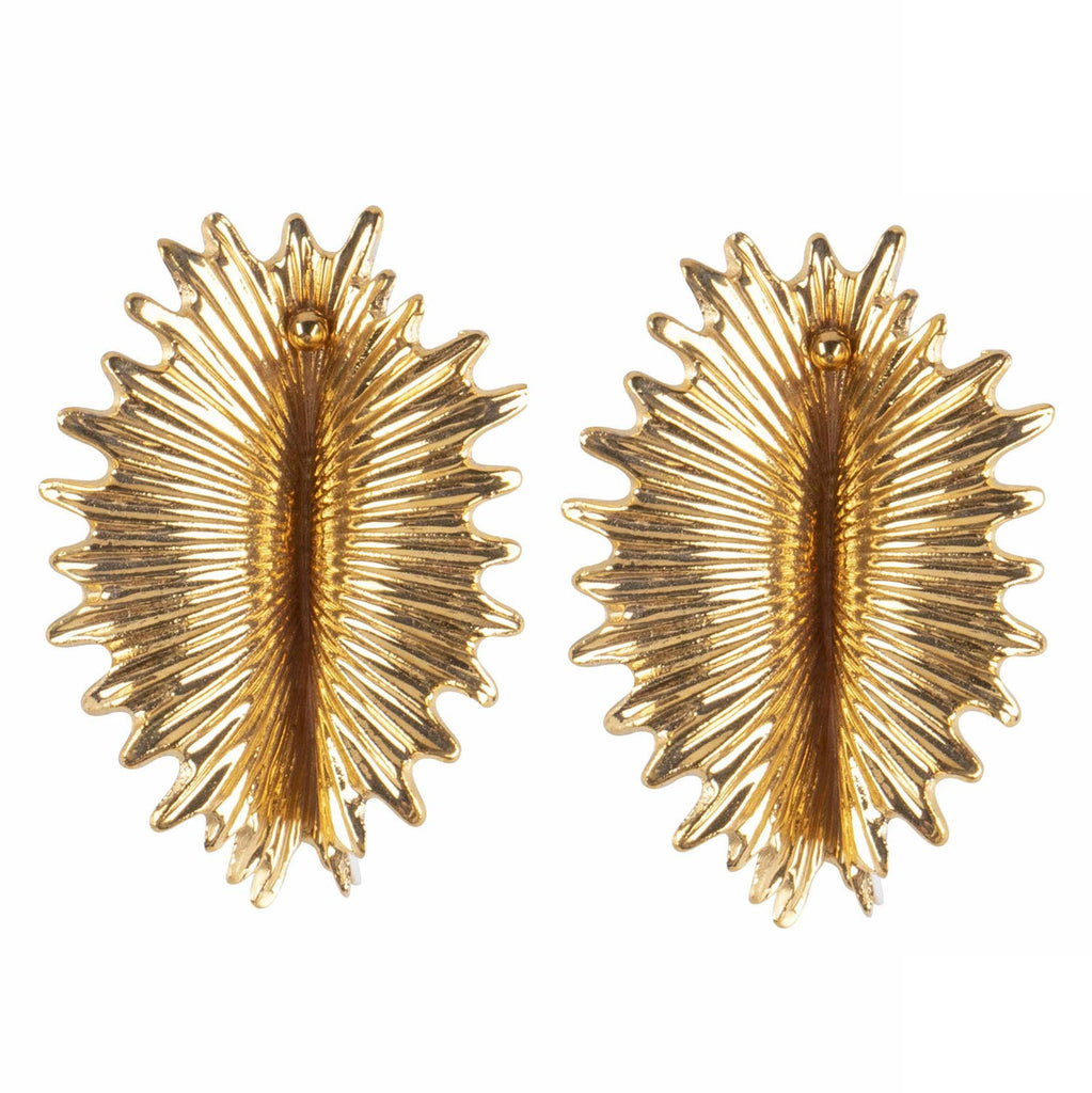 Lladro Actinia Earrings Golden Luster 01010290