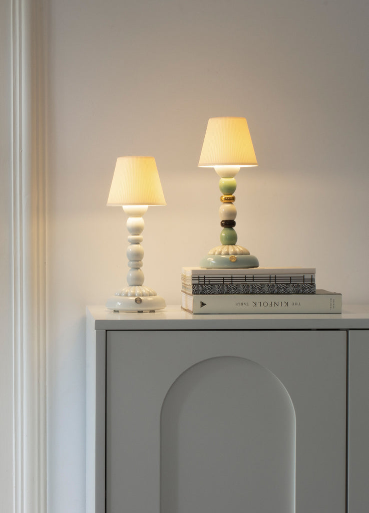Lladro Lotus Firefly Golden Fall Table Lamp Green and Blue 01023793