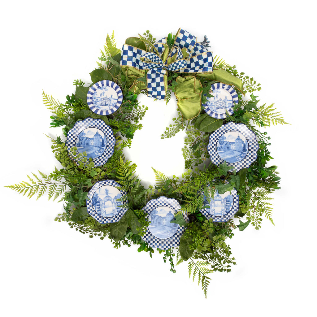 Mackenzie Childs Royal Check Wreath 34742-3614