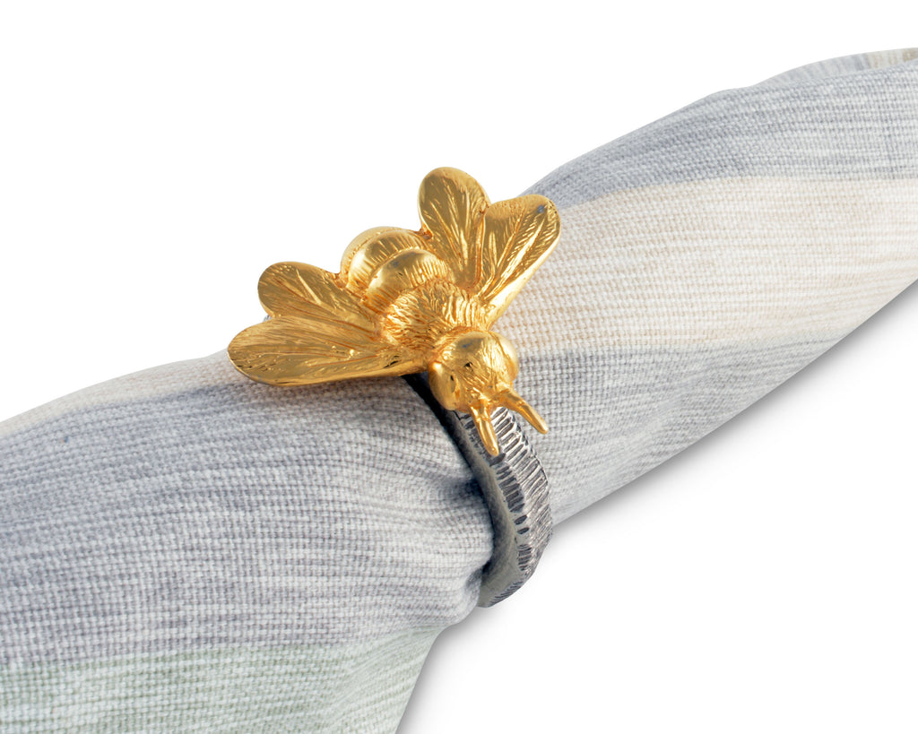 Vagabond House Arche of Bees Gold Bee Napkin Ring N115GB-1