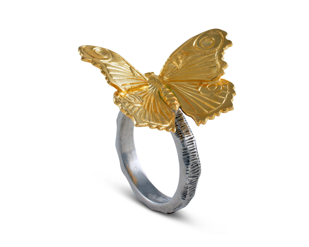 Vagabond House Garden Friends Gold Butterfly Napkin Ring R115GB-1