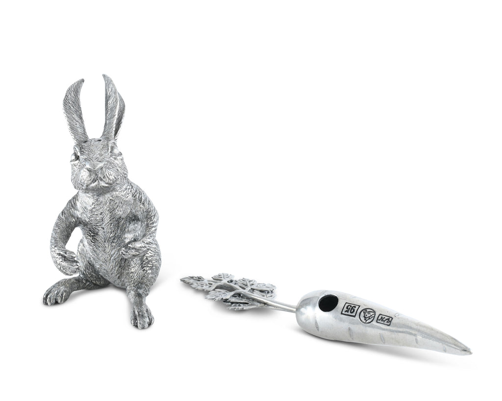 Vagabond House Garden Friends Rabbit Carrot Salt & Pepper Set R116V