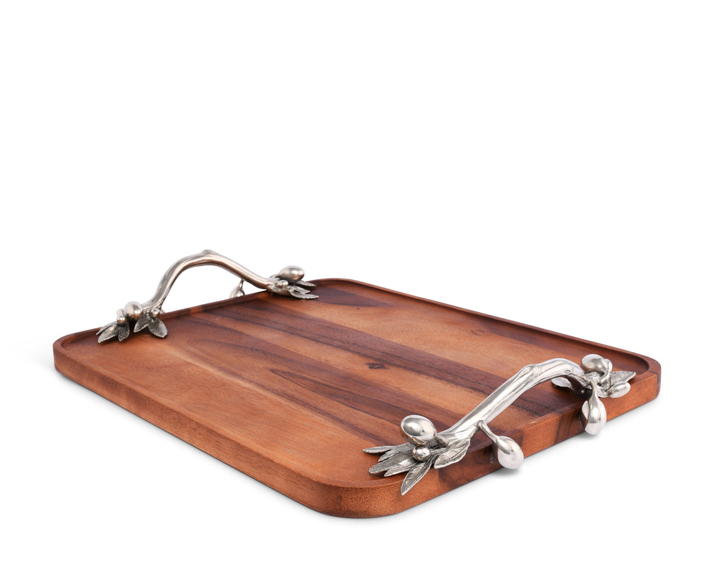 Vagabond House Olive Grove Olive Serving Tray Acacia-Rectangular R214OL