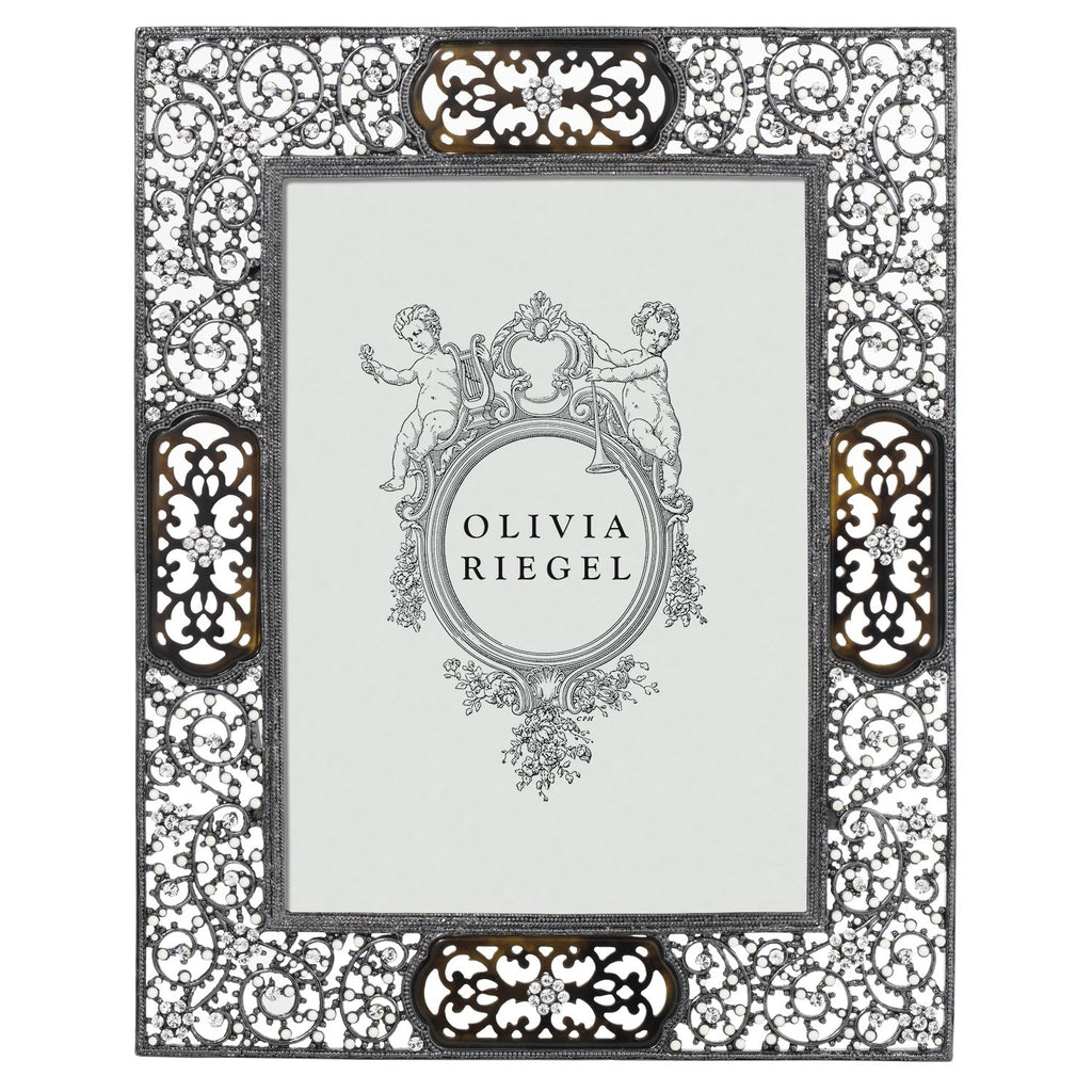 Olivia Riegel Queen Anne's Lace 5 x 7 Frame with Decorative Metal Back RT0095