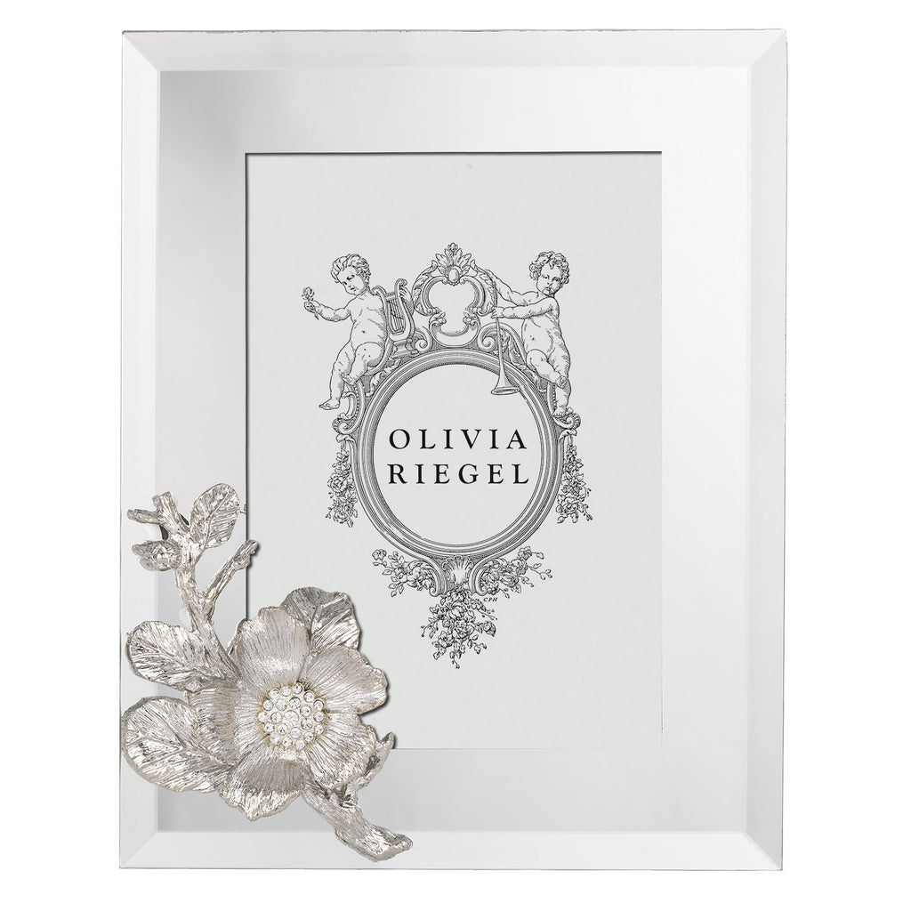 Olivia Riegel Silver Botanica 5 x 7 Frame RT0182