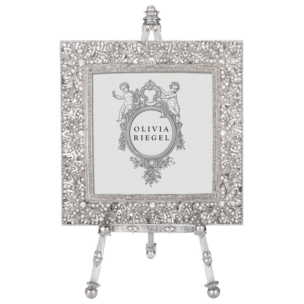 Olivia Riegel Silver Windsor 4 x 4 Frame on Easel RT1740