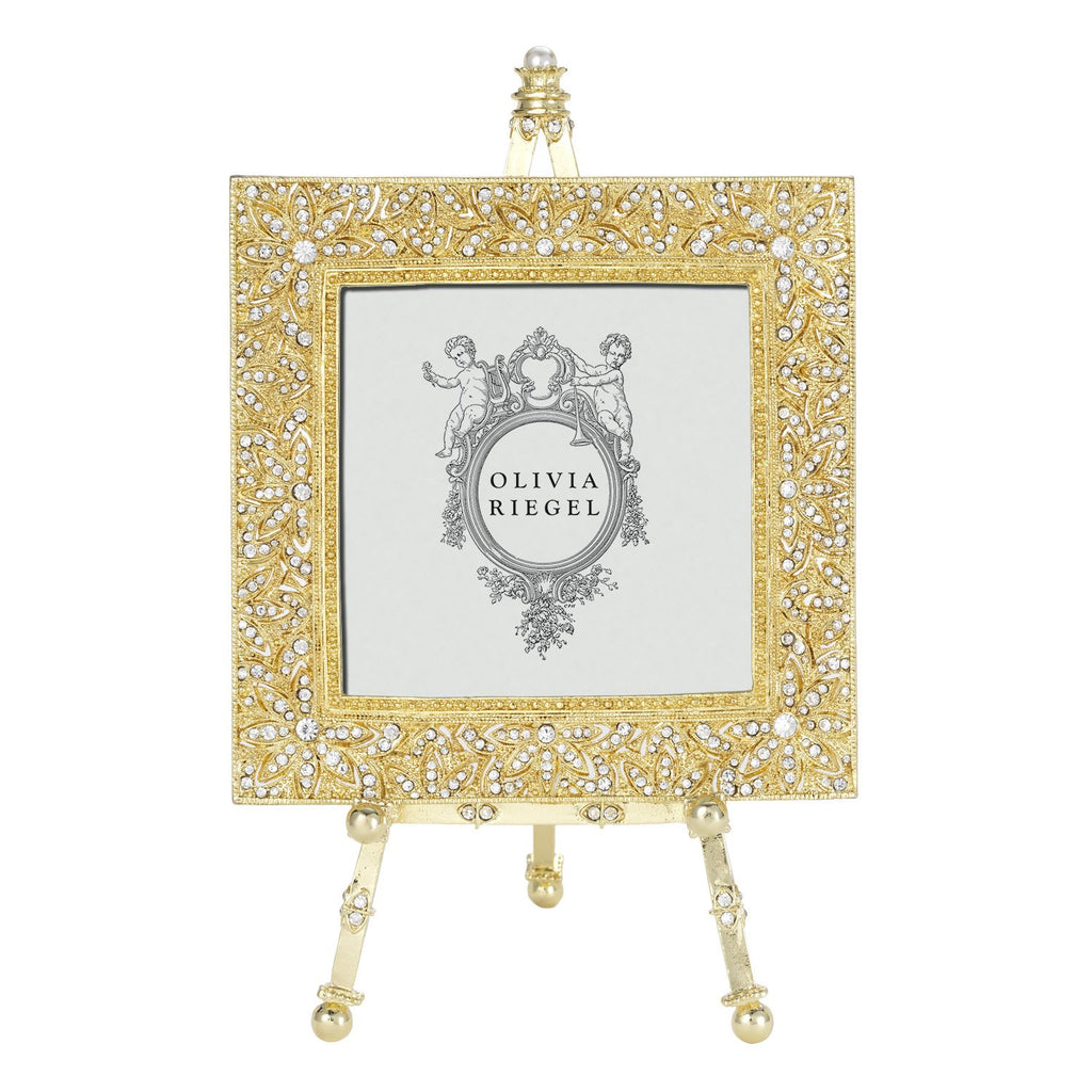 Olivia Riegel Gold Windsor 4 x 4 Frame on Easel RT2740