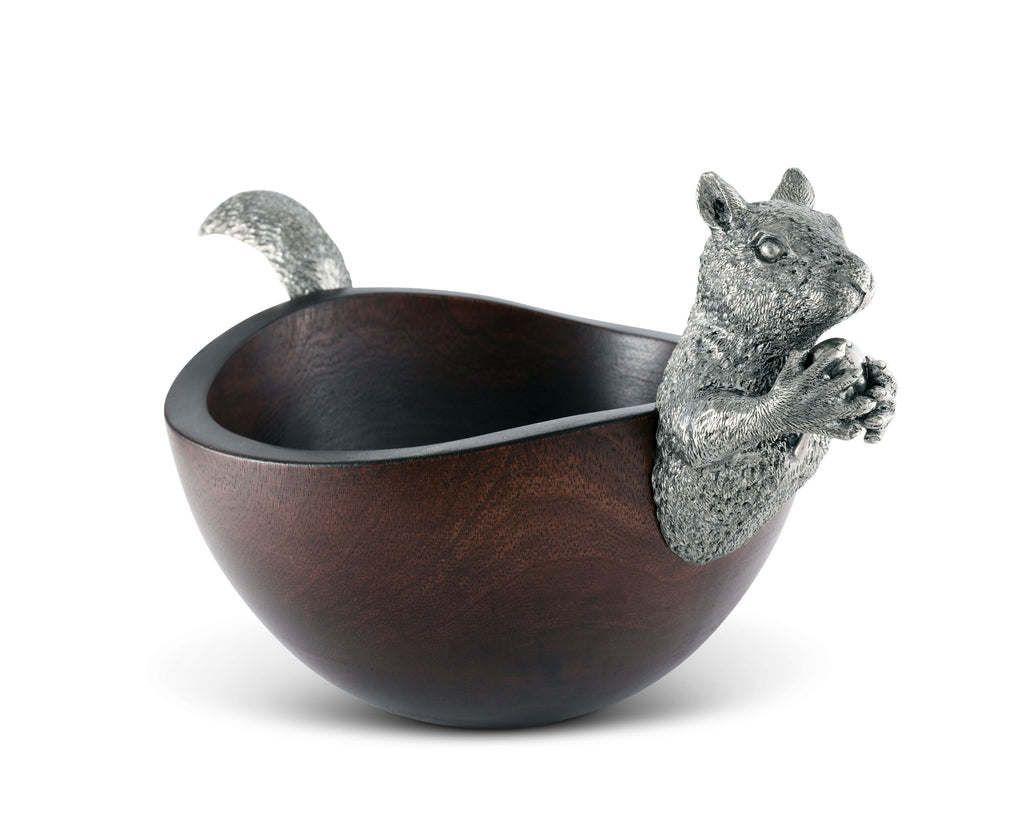 Vagabond House Woodland Creatures Squirrel Head and Tail Nut Bowl Sm S208S