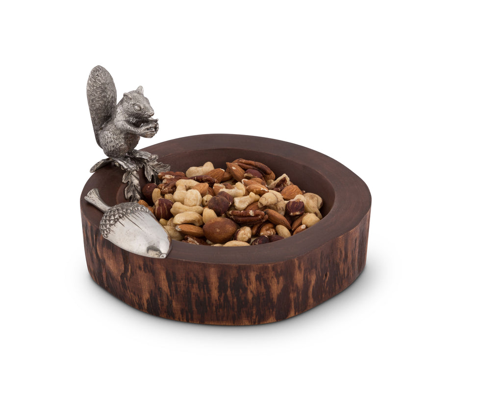 Vagabond House Woodland Creatures Standing Squirrel Nut Bowl & Scoop S209S