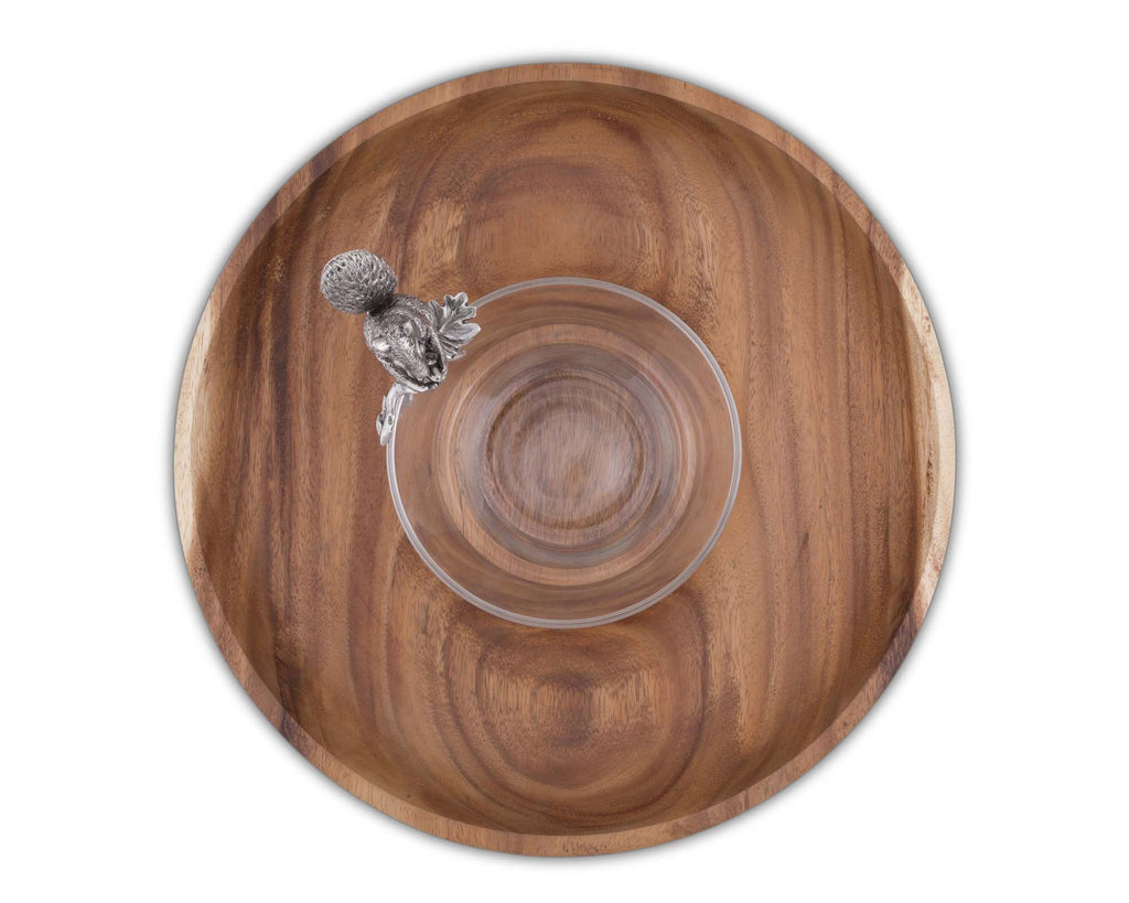 Vagabond House Woodland Creatures Squirrel Ring Serving Bowl S234SQ