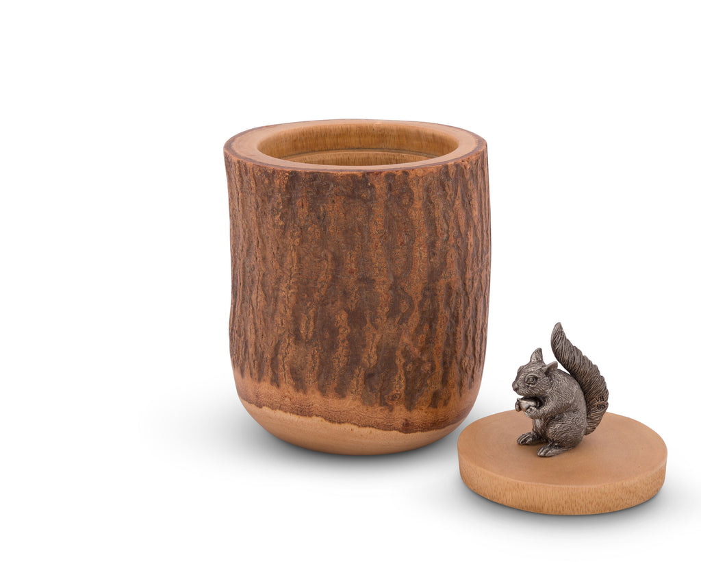 Vagabond House Woodland Creatures Squirrel Wood Canister S259SQ