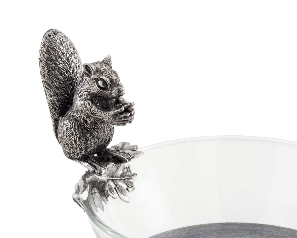 Vagabond House Woodland Creatures Squirrel Glass Nut Bowl S413SQ