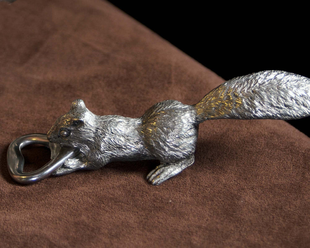 Vagabond House Woodland Creatures Squirrel Pewter Bottle Opener S9S
