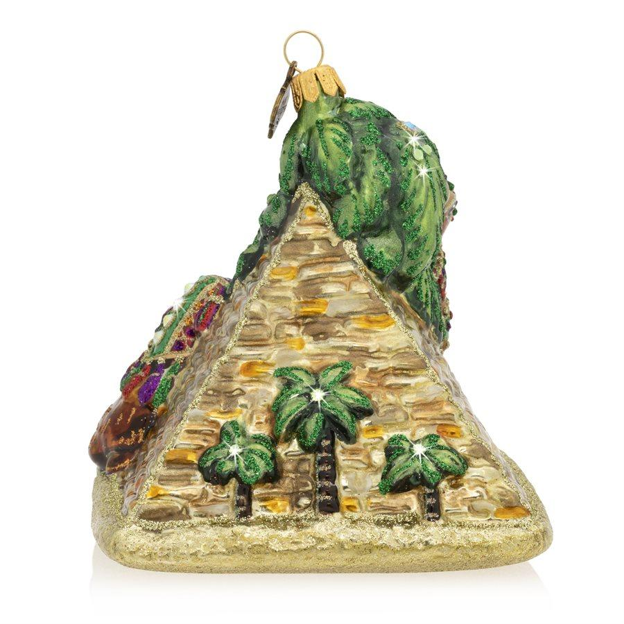 Jay Strongwater Camel and Pyramid Glass Ornament SDH2334-250