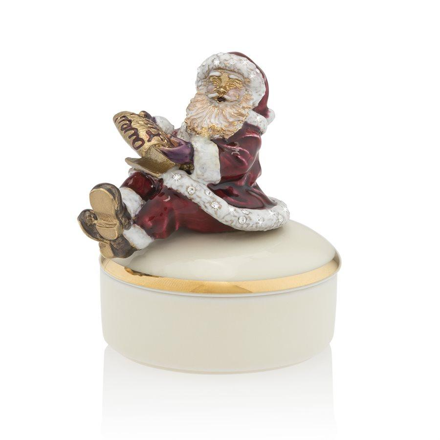 Jay Strongwater Santa on Porcelain Box SDH7388-250