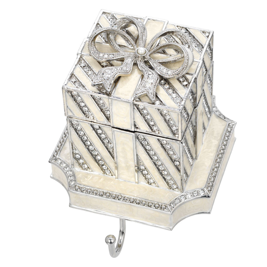 Olivia Riegel White Gift Box Stocking Holder SH2630