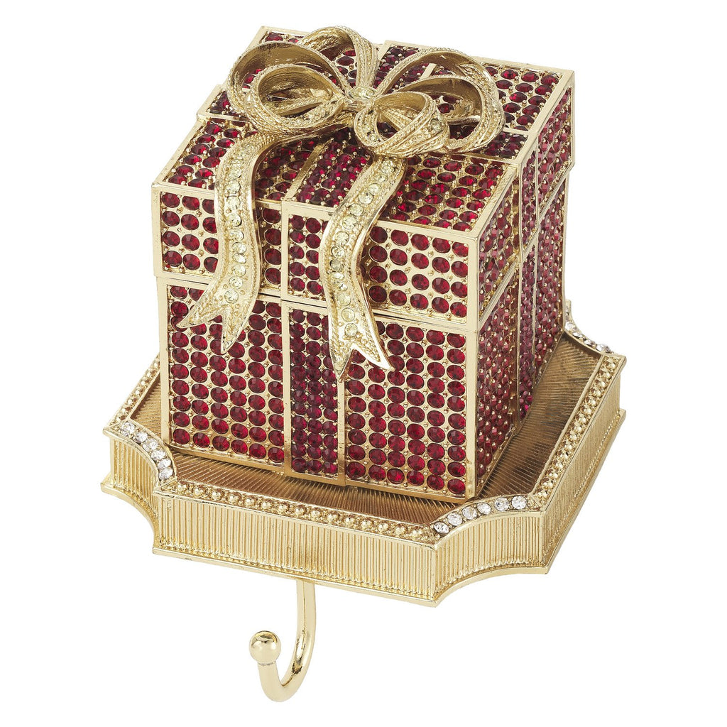 Olivia Riegel Ruby Pave Gift Box Stocking Holder SH2647