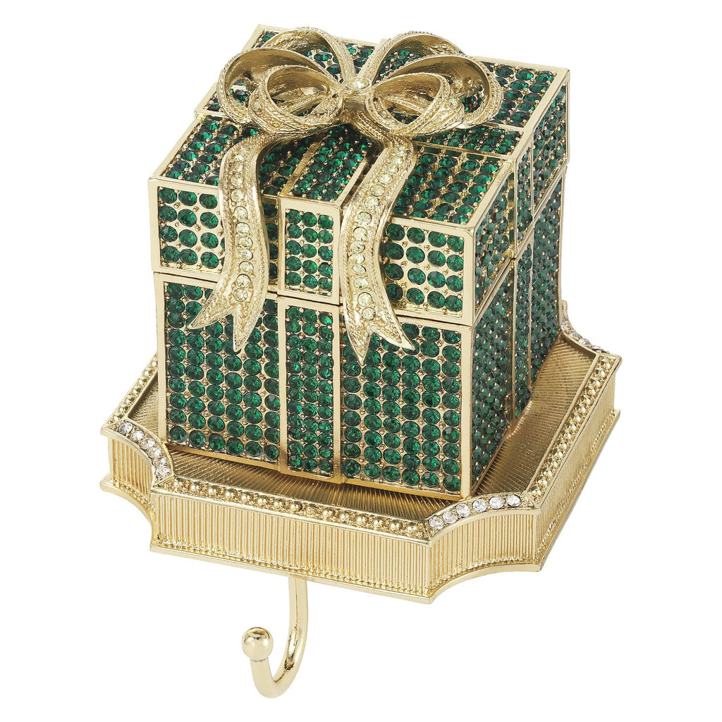 Olivia Riegel Emerald Pave Gift Box Stocking Holder SH2648