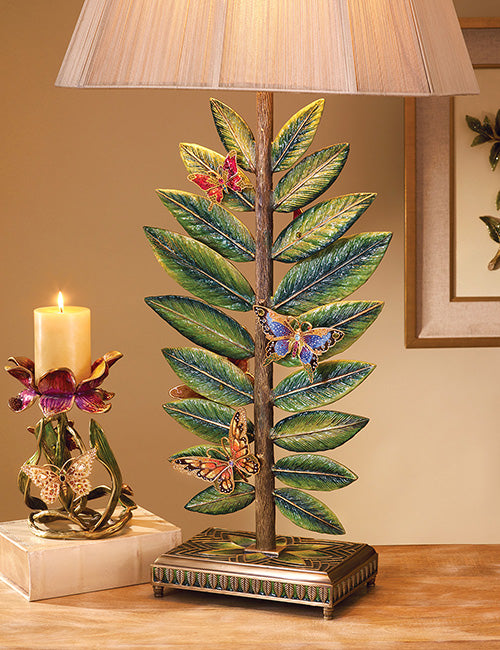 Jay Strongwater Timothy Butterfly & Leaf Lamp SHW3284-456