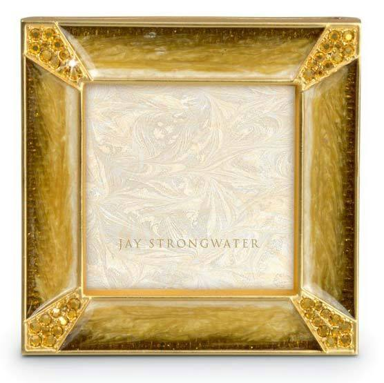 Jay Strongwater Leland Pave Corner 2 Square Frame SPF5130-232