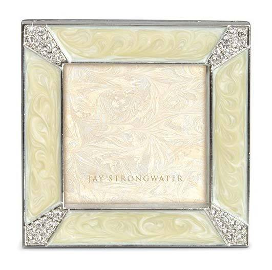 Jay Strongwater Leland Pave Corner 2 Square Frame SPF5130-605