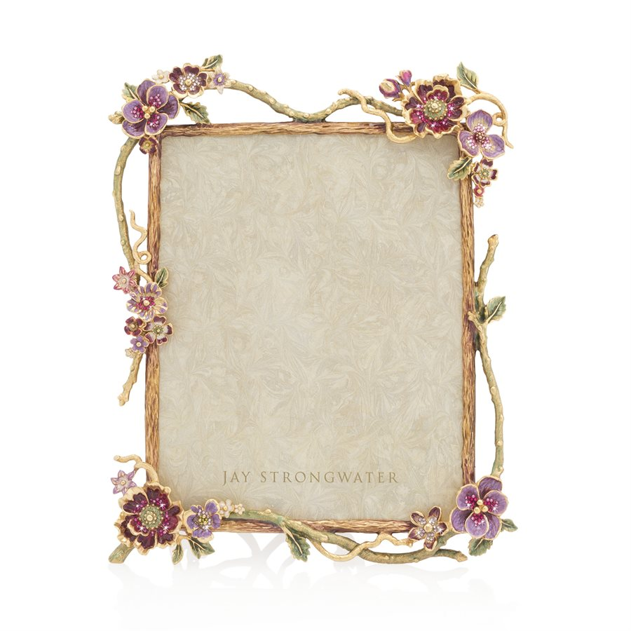 "Jay Strongwater Delilah Floral Branch 8"" x 10"" Frame SPF5860-289"