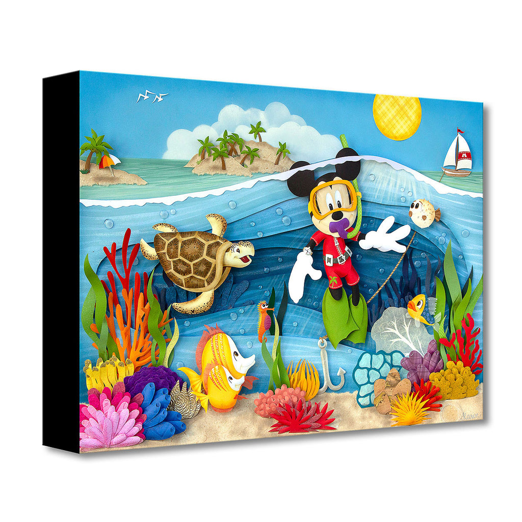 Disney Fine Art Scuba Mickey