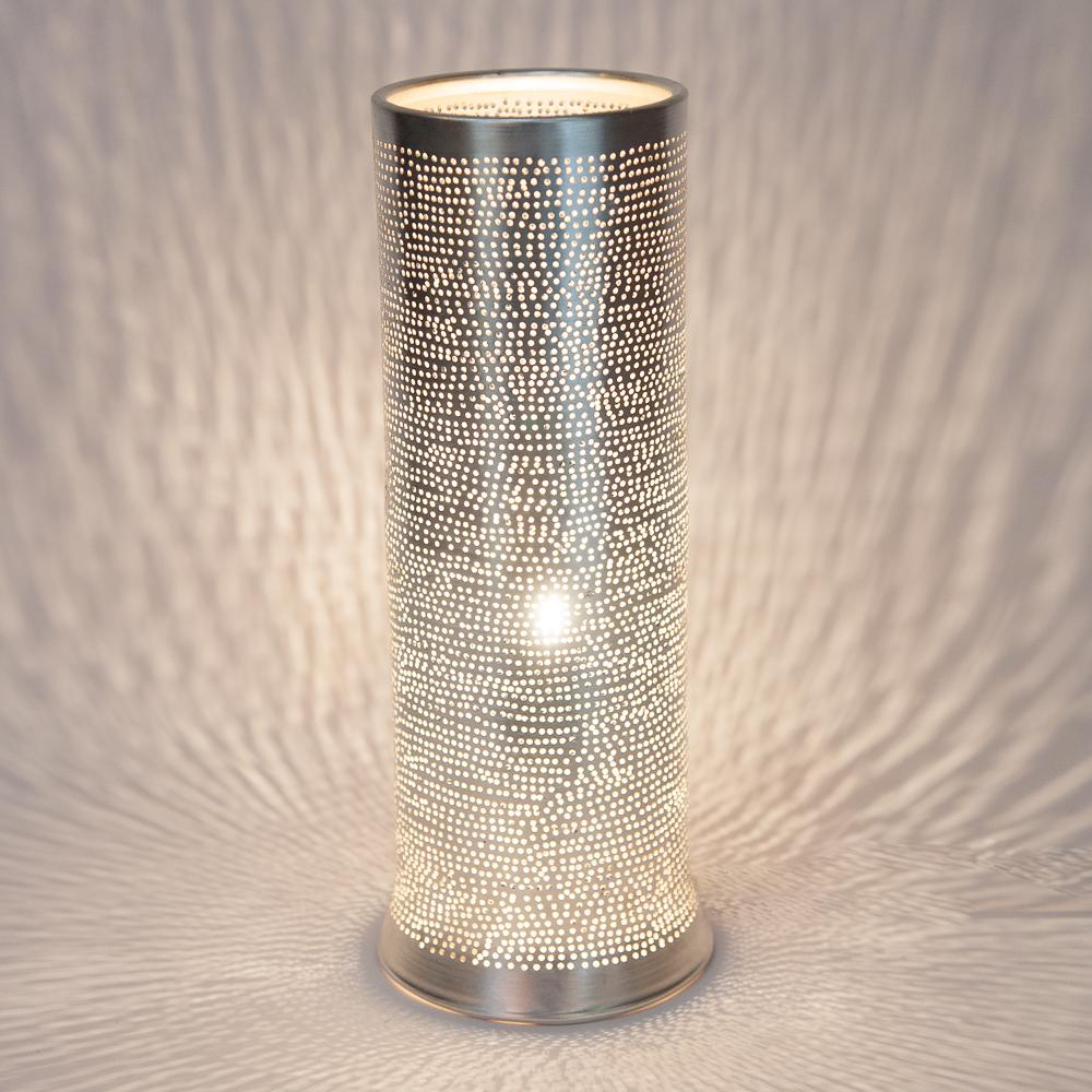 Zenza Table Lamp Tally Filisky Small Nickel Table Light TALSSMTL