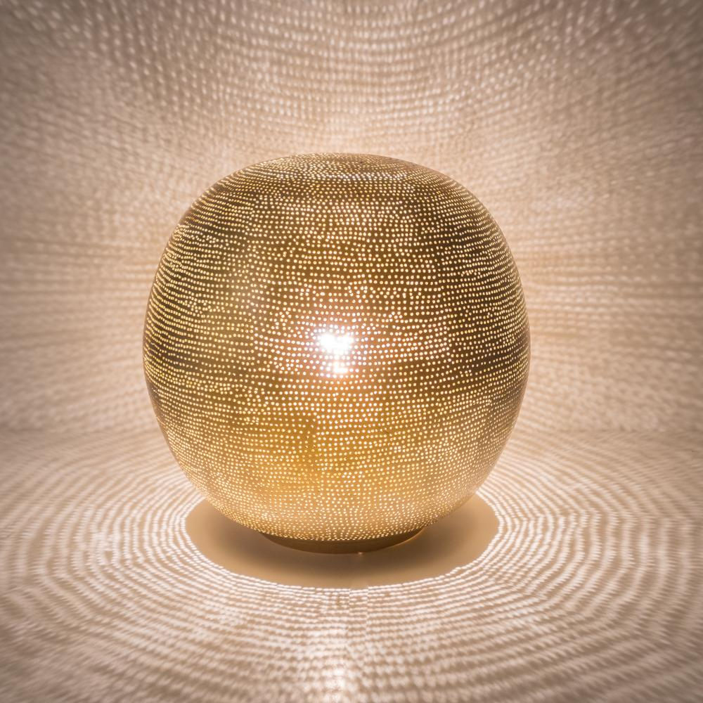 Zenza Table Lamp Ball Filisky Medium Gold Table Light TLFSBMEGO
