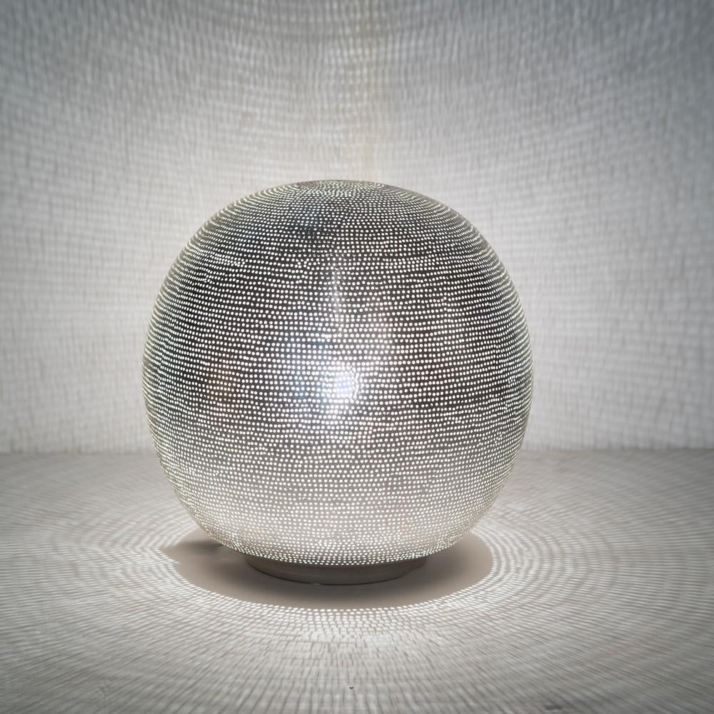 Zenza Table Lamp Ball Filisky Medium Nickel Table Light TLFSBMES
