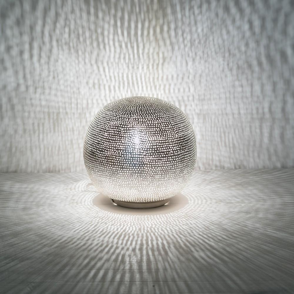 Zenza Table Lamp Ball Filisky Small Nickel Table Light TLFSBSMS