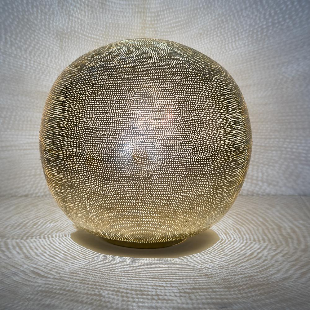 Zenza Table Lamp Ball Filisky XL Gold Table Light TLFSBXLGO