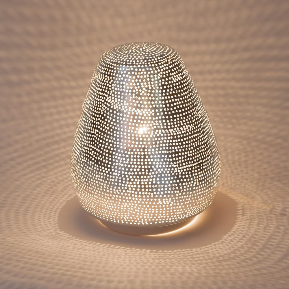 Zenza Table Lamp Tahrir Mini Filisky Nickel Table Light TLTAHMISK