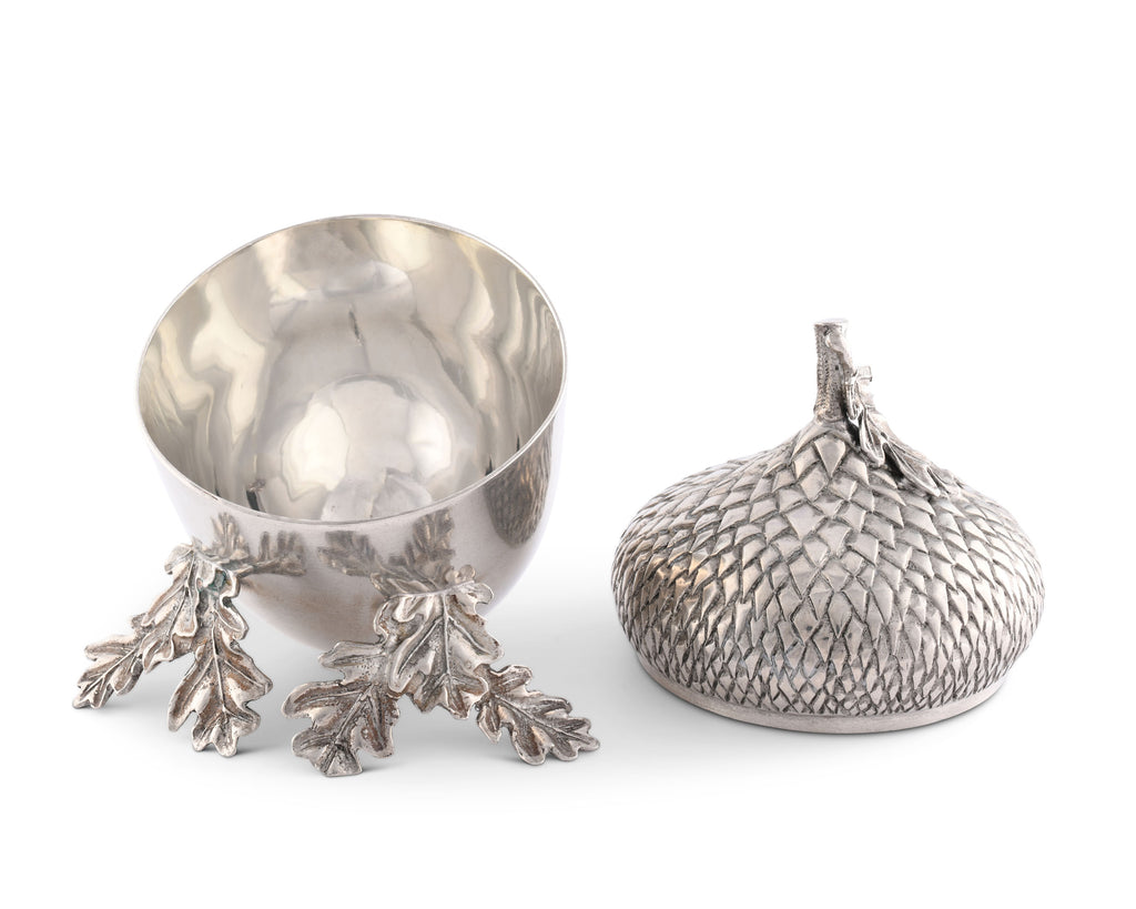 Vagabond House Majestic Forest Pewter Acorn Bowl V915