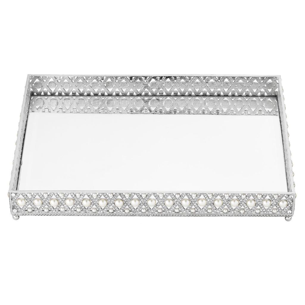 Olivia Riegel Large Pegeen Beveled Mirror Tray VT0021