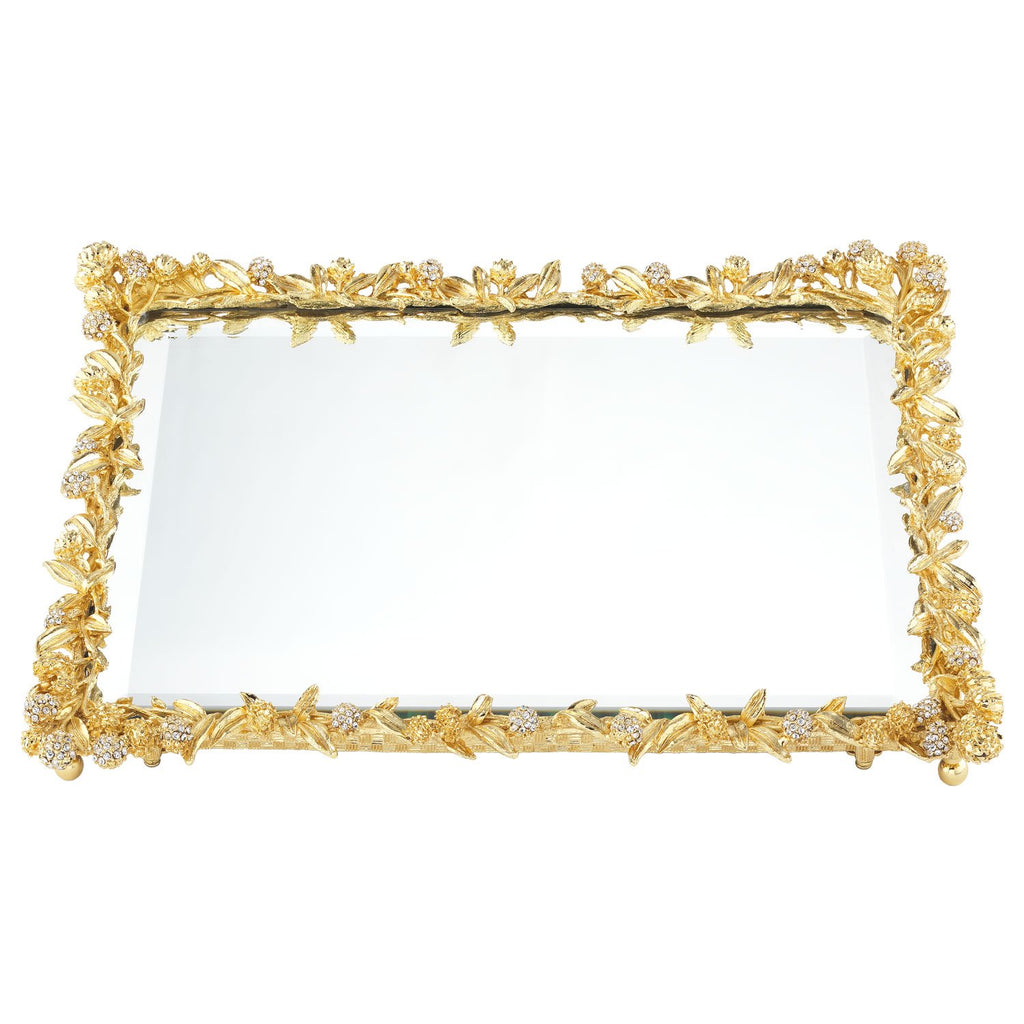 Olivia Riegel Gold Cornelia Beveled Mirror Tray VT1168