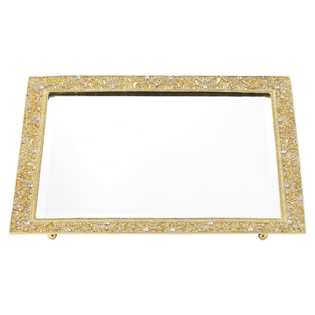 Olivia Riegel Gold Windsor Beveled Mirror Tray VT2739