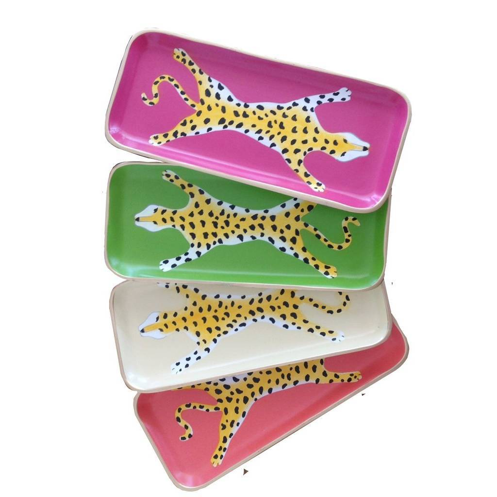 Dana Gibson Assorted Leopard Trays