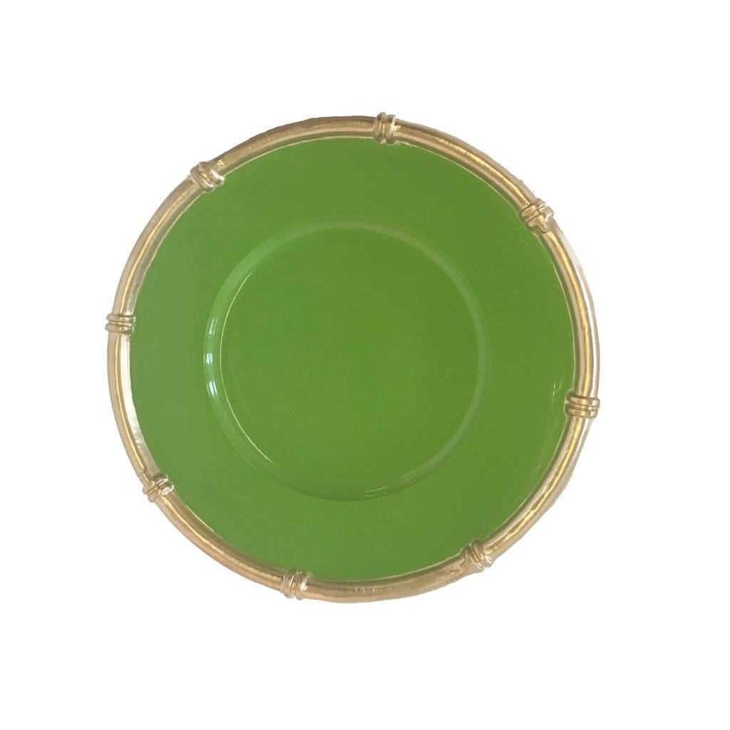 Dana Gibson Bamboo Charger in Green