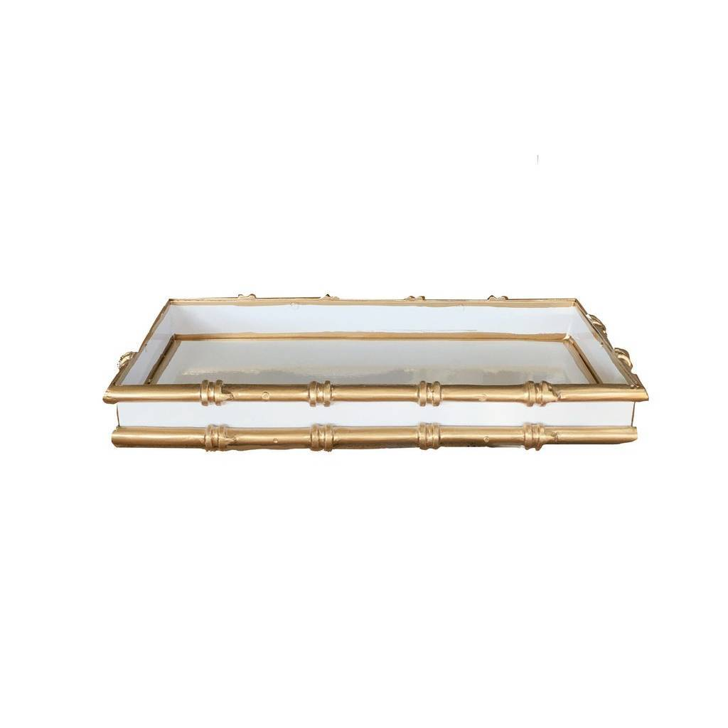Dana Gibson Bamboo in White Serving Tray