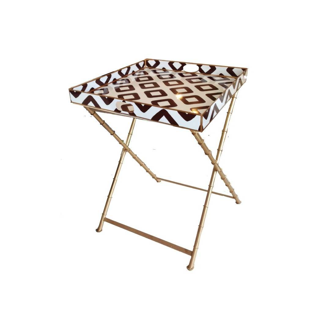 Dana Gibson Baratta in Brown Side Table