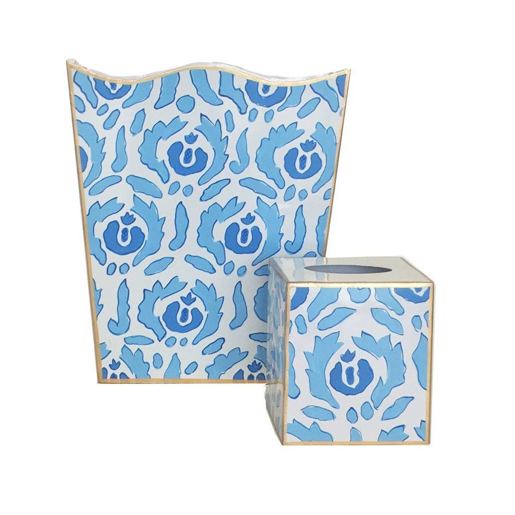 Dana Gibson Beaufont in Blue Wastebasket