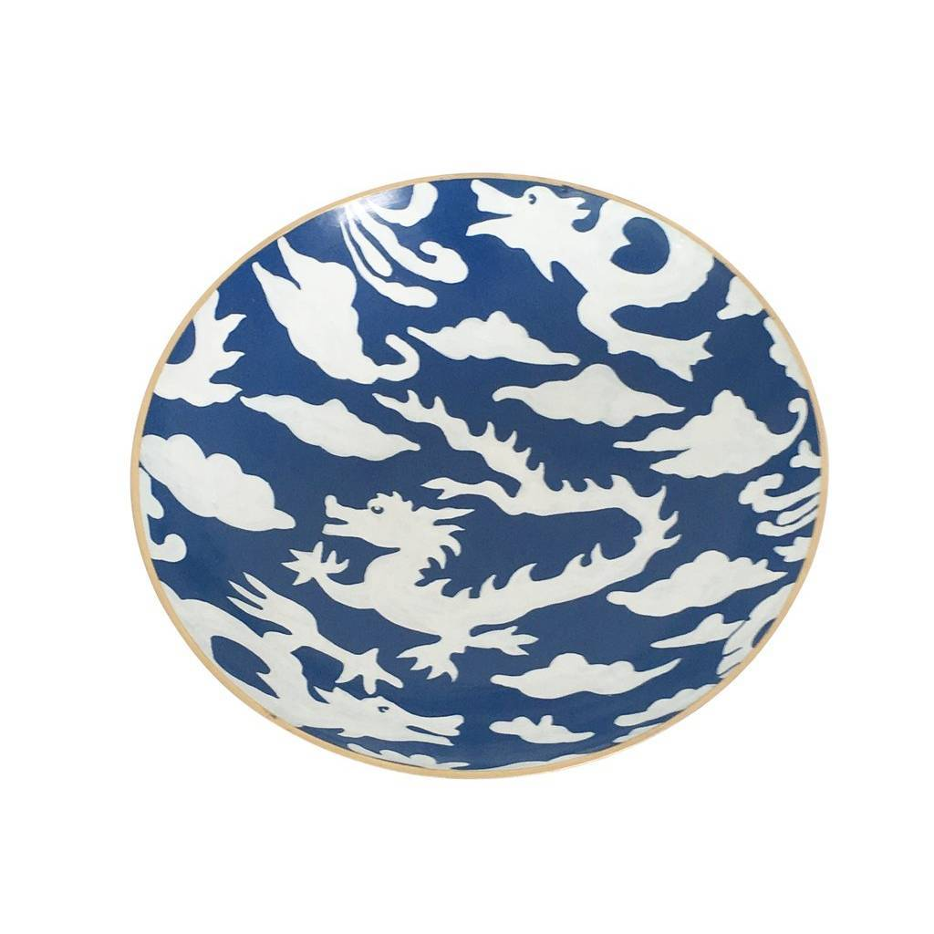 Dana Gibson Blue Dragon Bowl Medium