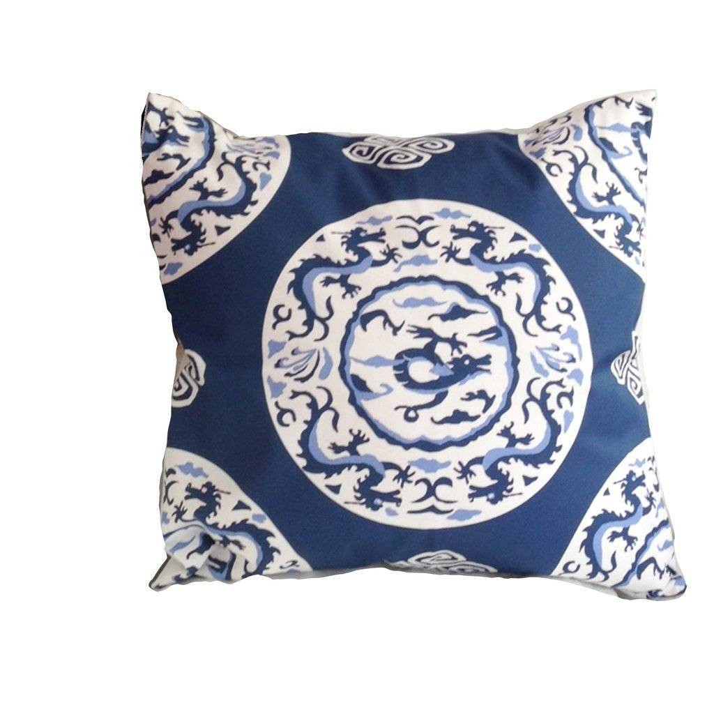 Dana Gibson Blue Dragon Pillow