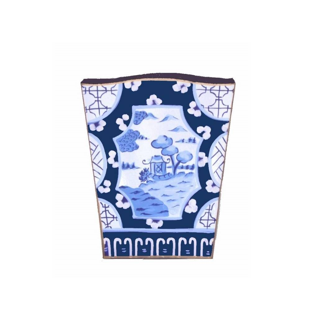 Dana Gibson Canton in Blue Wastebasket